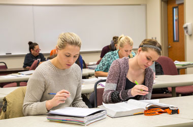 Students learning in classroom Gillette College