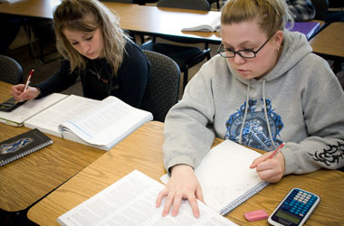 Engineering students taking test NWCCD Wyoming