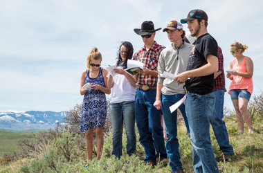 Students Working Outdoors Sheridan College Wyoming