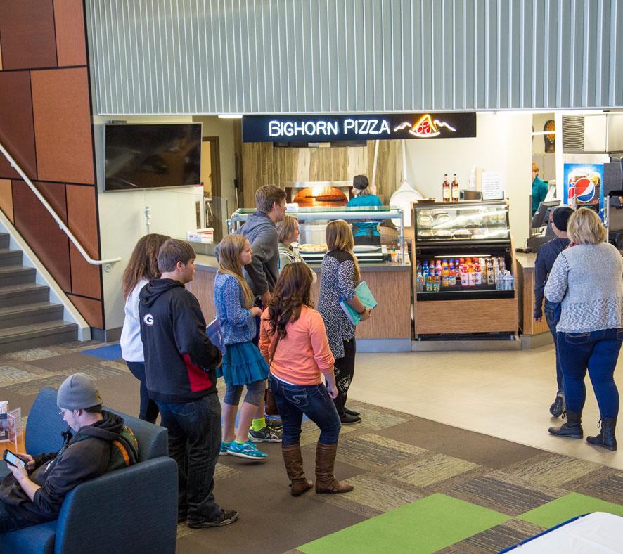 Bighorn pizza at Thorne-rider Campus Center