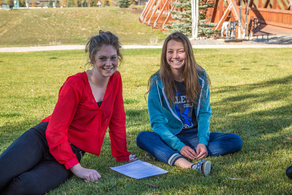 Students enjoying campus Gillette College Wyoming