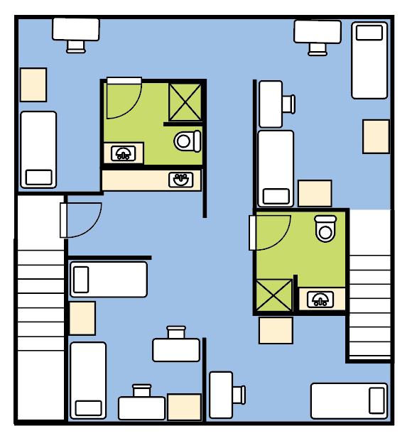 East Hall Sample Floor Layout