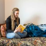 Gillette College Housing Inspiration Hall Student Reading