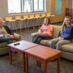 Gillette College Housing Inspiration Hall Students Relaxing in Lobby