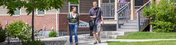 Sheridan College Housing Whitney Villas Lofts Students Walking Wyoming