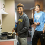 Sheridan College Student Life South Hall Sebastian and Jair in the Kitchen