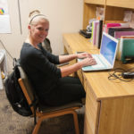 Sheridan College Housing North Hall Student Working at Desk