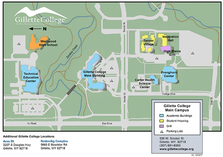campus-map-gillette-college-wyoming - NWCCD on