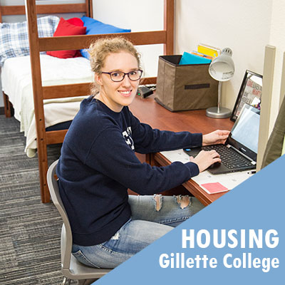 Gillette College offers on campus student housing options.