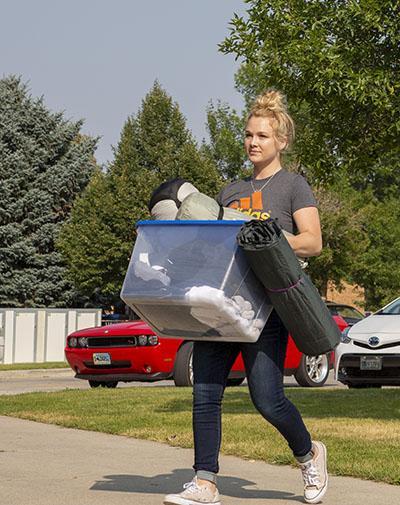 Move In Day at Sheridan College and Gillette College.