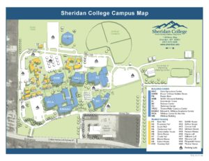 Campus Map of Sheridan College in Sheridan Wyoming
