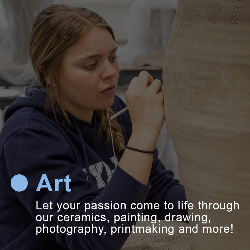 Let your passion for art come to life through our ceramics, painting, drawing, and other art classes at Sheridan College.