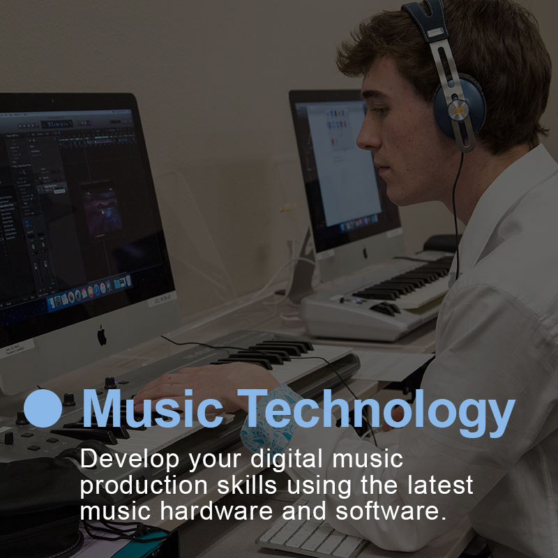 Sheridan College's Music Technology Certificate of Completion program features state-of-the-art recording studios and technology preparing you to launch your music career or transfer to advanced music programs nationwide.