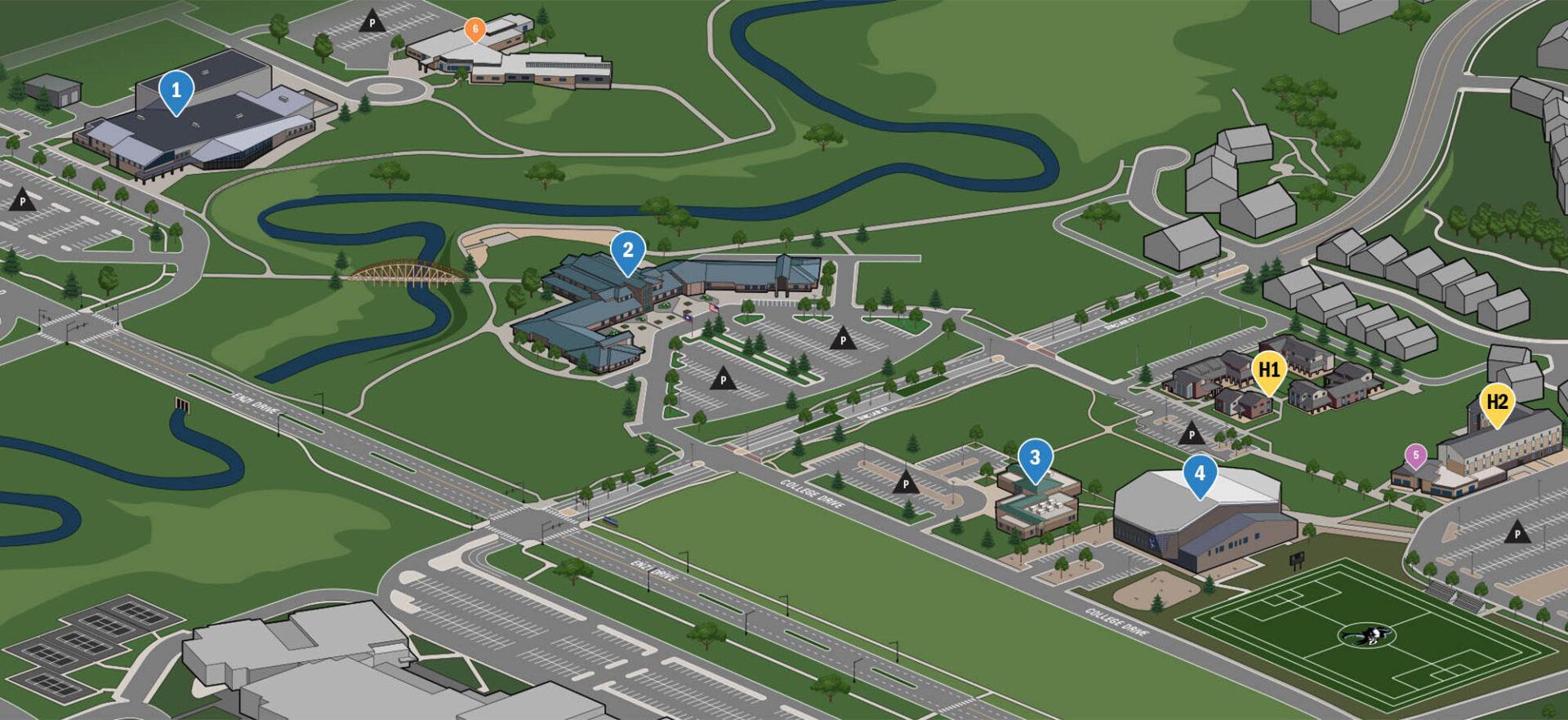 Gillette College Campus Map